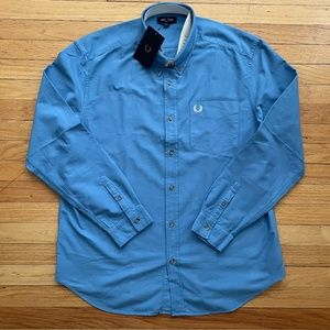 Fred Perry MADE IN PORTUGAL Blue Oxford Shirt XL